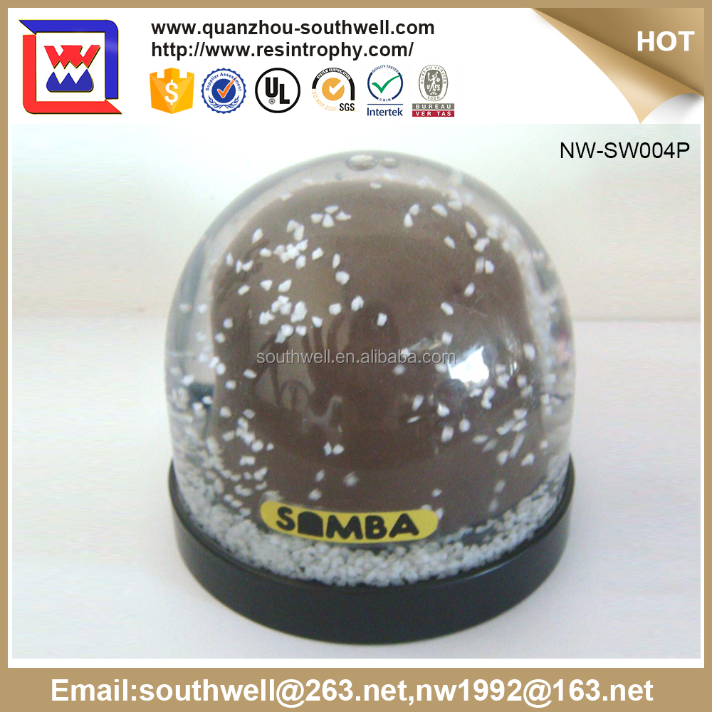 Promotional Factory Custom Plastic Snow Globe With Photo Insert