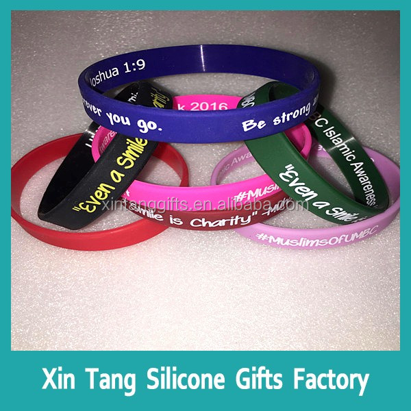 silicone armband with customised logo