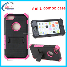 3 in 1 hybrid hoster combo case for iphone 5C,military hard back case for iphone 5C