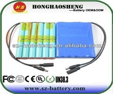 Light weight rechargeable 12volt litio ion batteries 12v 12000mah lithium battery pack
