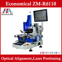 ZM-R6808 upgrade model ZM-R6110 BGA rework station with optical alignment vision system, BGA repair machine