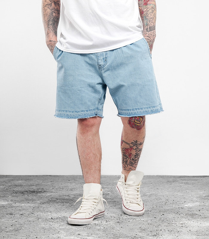 2017 New Arrival Mens Denim Plain Cargo Shorts Wholesale