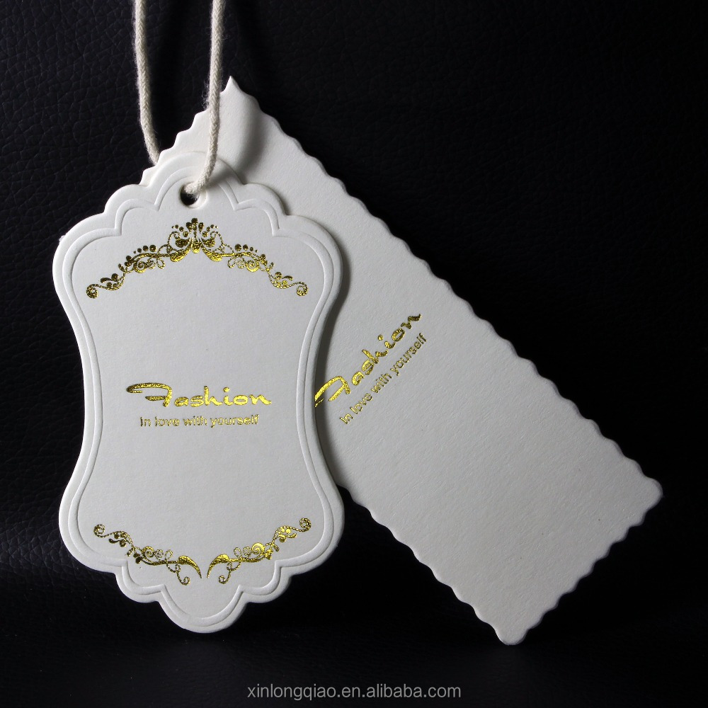Hot sale beautiful luxury hang tags for ladies fashion