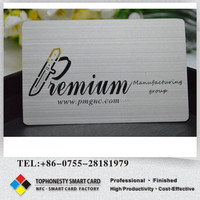 Laser Cut Metal Business Card Concave Stainless Steel Business Card With Printing
