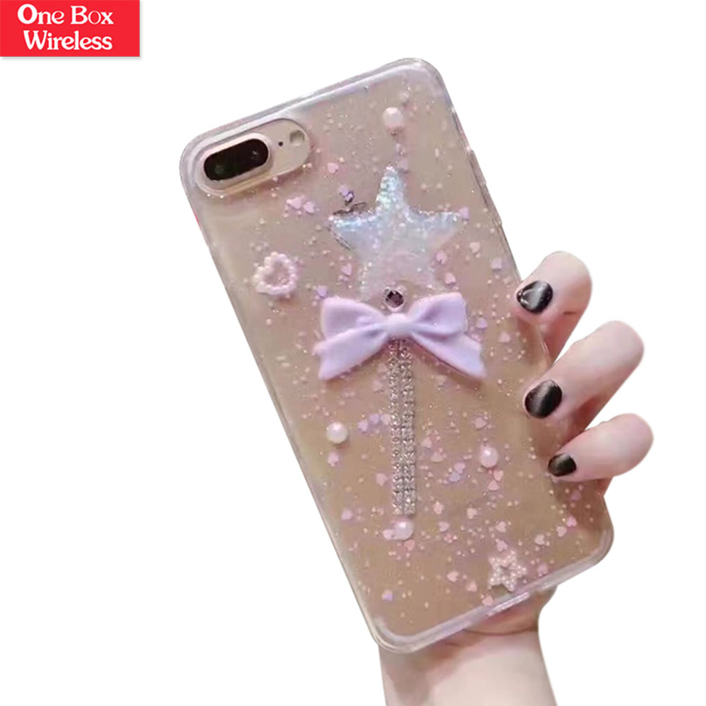 Cute for iphone 6s Fashion Trend Case Protective Cover Liquid Floating Luxury Bling Glitter Star Sparkle Case