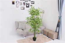 Newest selling excellent quality green decorative artificial bamboo tree