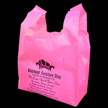 hdpe recyclable plastic vest handle carrier shopping packaging bag