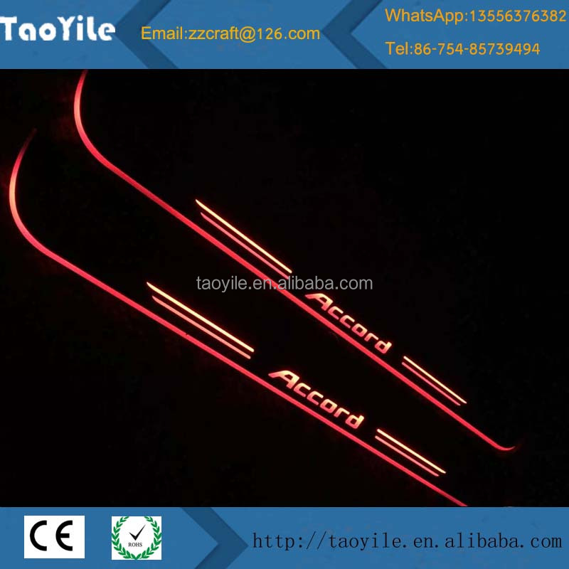 New car accessories waterproof IP65 12V led CE Door sill scuff plate door sill led for honda accord