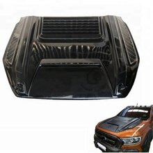 Thailand Style ABS Plastic Black Bonnet Scoop 4x4 Car Accessories For Ranger Wildtrak 2016 2017 T7