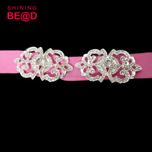 Fashion rhinestone chair sash buckle decorative sash buckles diamante crystal rhinestone buckles