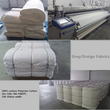 bedding use 100% cotton / poly cotton/ polyester grey fabric