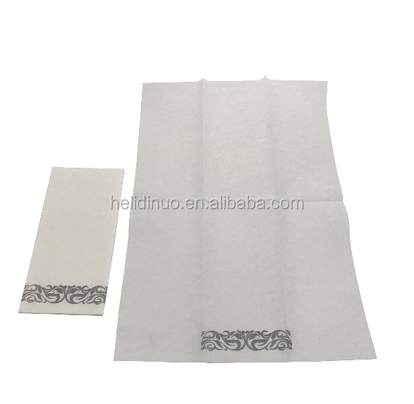 Decorative Floral Disposable Cloth-like Tissue Paper Hand Airlaid Napkins