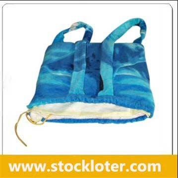 110701 Stock Blue Beach Towel Bag stock 2013 for beach sea