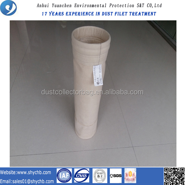 Low price filter housing use aramid dust filter bag and fabric for dust collector