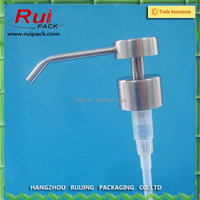 28 mm stainless steel lotion pump , metal shampoo dispenser