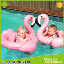 Baby Inflatable Flamingo Shape Kids Float Seat Swimming Boat Ring Swim Ride-On Toys