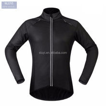 jersey cycling jacket Unisex Long Sleeve slim fit black zup up collar Windproof Warm Running Riding Bike blank cycling jerseys
