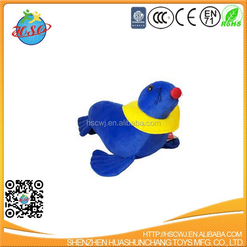 Gift Promotion Toy Mascot Key Chain Low Cost Blue Plush Dolphin
