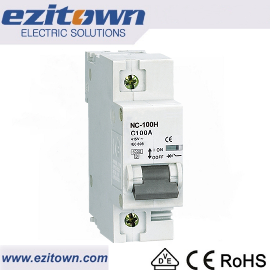 NC-100H Single pole mcb connector thailand Circuit breaker ratings