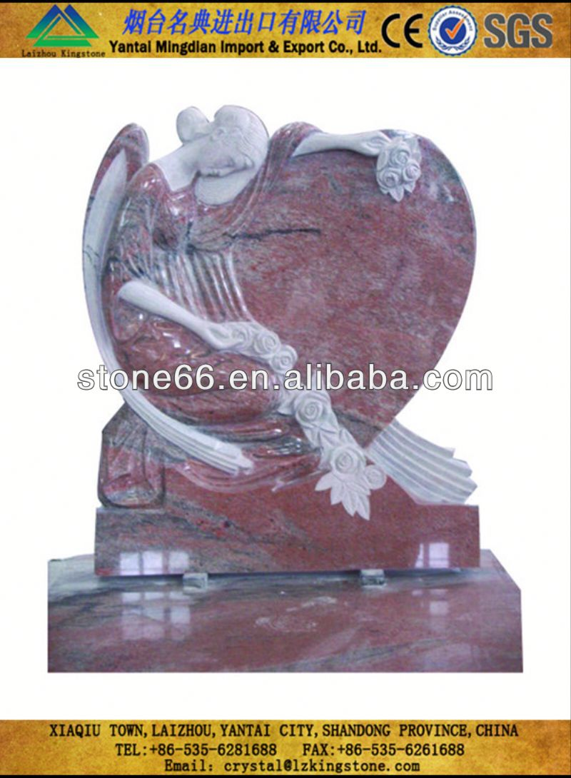 CN hotsale tree carving monument headstone