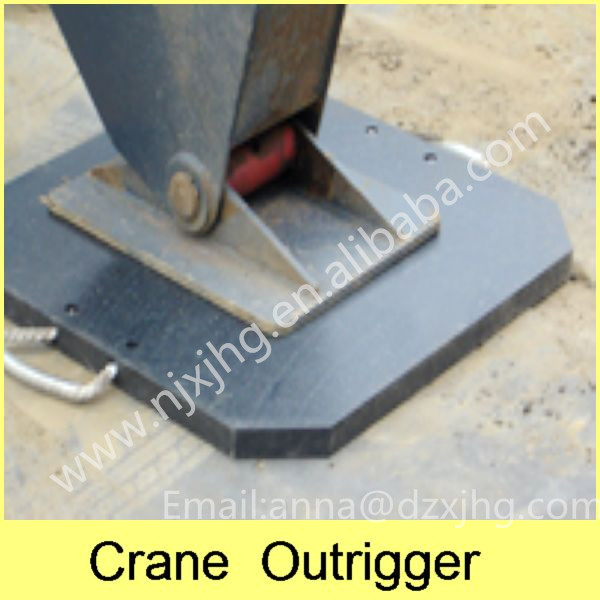UHMWPE mobile crane outrigger pads / uhmw plastic walkways