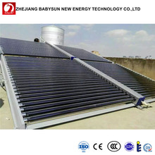 Swimming pool Solar heating system, vacuum tube Unpressurized collector