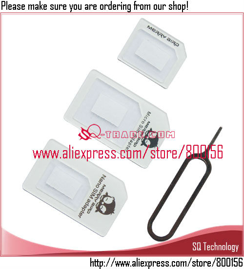 Nano/Mirco to Normal Sim Card Adapter for iPhone 5 4S 4G