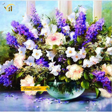 DIY colorful flowers 5D diamond painting for home decoration