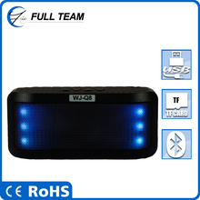 Portable laptop mini digital flashing color light stage speaker compatible for CD/DVD/MP3/MP4/PC