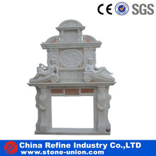 Refine White marble fireplace surround indoor