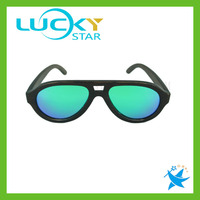 Wood sunglasses china 100% handmade wooden sunglasses with mirror lens first-class glasses