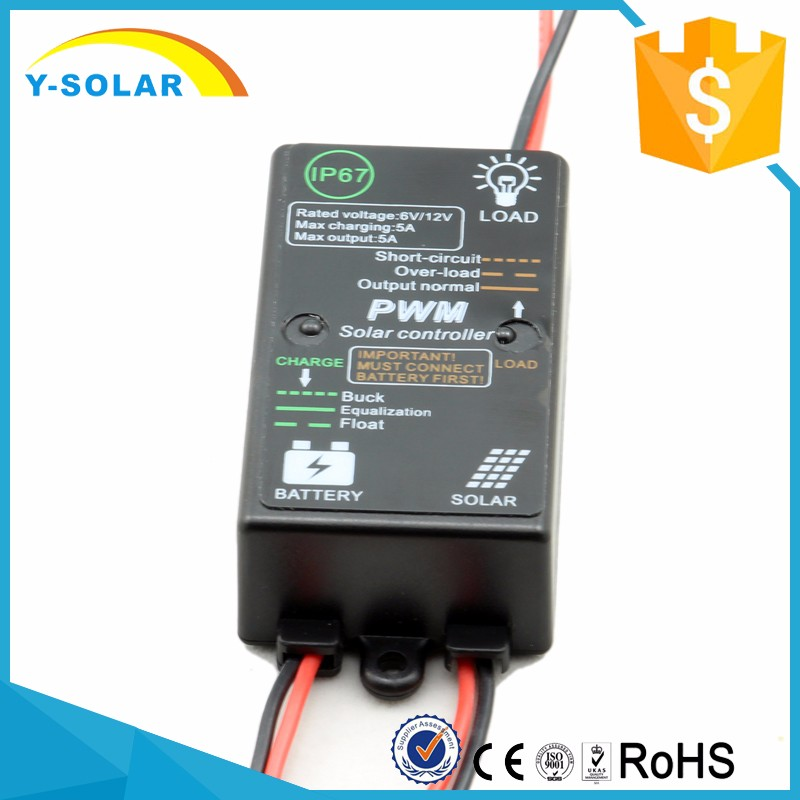Y-SOLAR waterproof Solar Panel Charger Controller 5A 12V