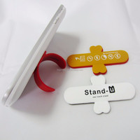 2015 Hot Sales OEM logo promotional gift phone accessory 3M Sticker Silicone Phone holder stand