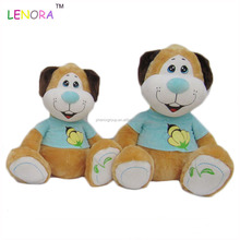 New product low price plush dog dressed on stuffed animals toys made in china