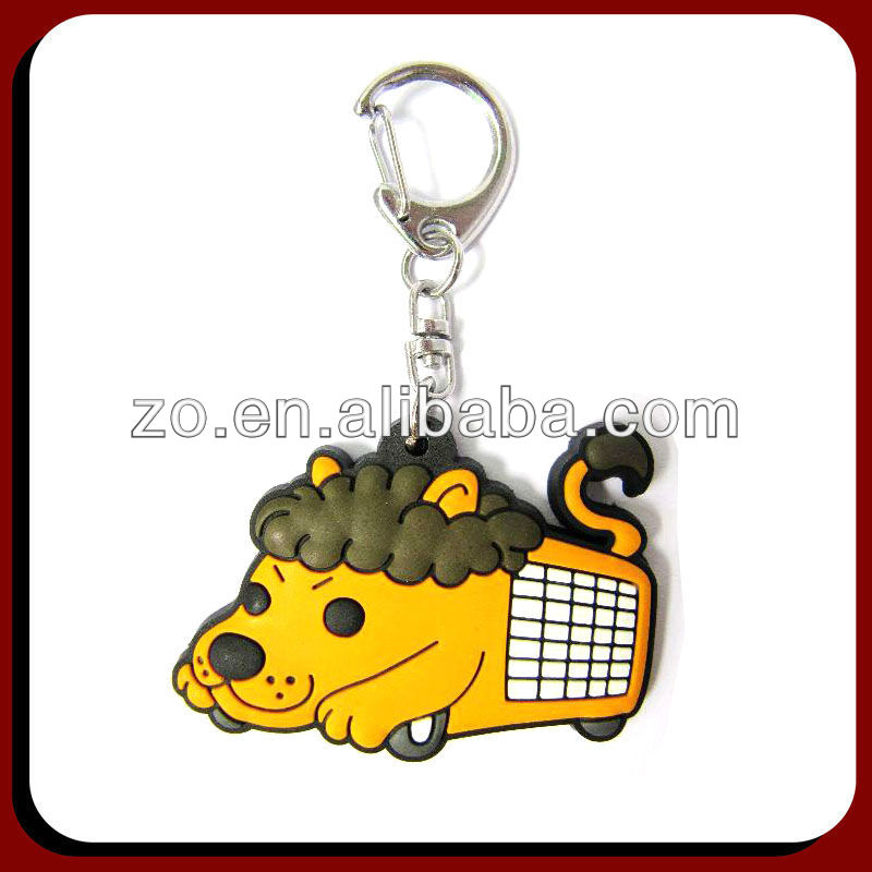 3D Pvc promotional keychain animal shape