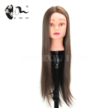 cheap hairdressing 100% human hair Female training doll head