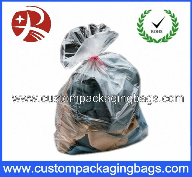 Water soluble plastic laundry bags for infection control in hospitals