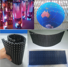 see through led display flexible / flexible led display panels