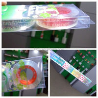 Silver Talent high stick super crystal clear stationary tape for polybag sealing