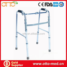 Reciprocating folding elderly walker
