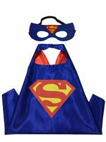 superhero cape and mask for kids children birthday party, saints day halloween