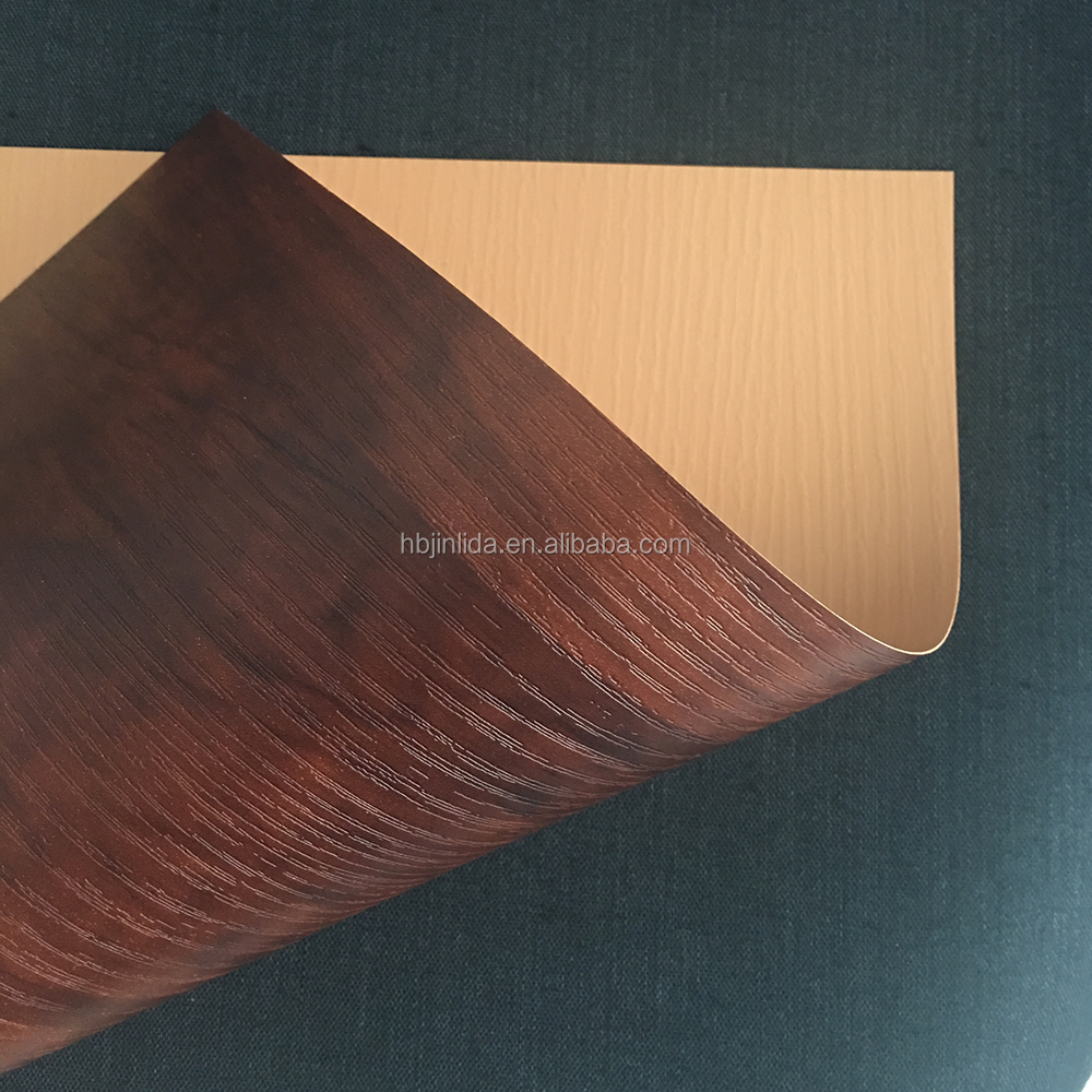 high gloss decorative wooden grained pvc foil for membrane press