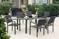 Garden furniture PE rattan dining sets Wicker dining set patio outdoor plastic rattan set