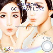 blingbling cosmetic soft contact lenses raibow gray