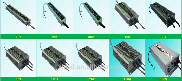 50-60Hz Metal Shell Waterproof Constant Voltage 30W LED Driver 12V
