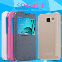 Nillkin Sparkle Flip Leather cover Mobile Phone case for Samsung Galaxy A3 2016 A3100 A310F