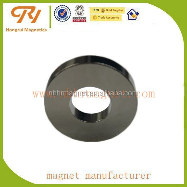 NdFeB Nickle coating N52 grade Ring shape motor magnet