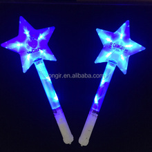 Concert hot fans illuminated star blinking battery operated glow sticks