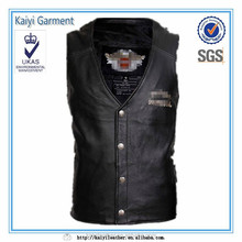 black synthetic leather sleeveless jackets for boys