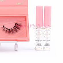 Custom logo white fake fashion cosmetic latex Korea strip eyelash glue
